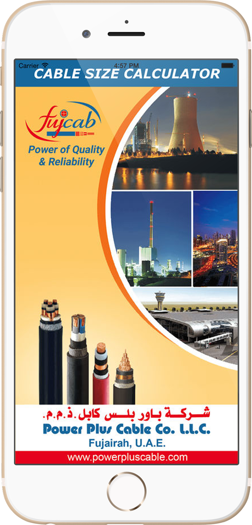 Power Cable Manufacturers Dubai High Low Voltage Copper Pvc 3 Phase Electrical Wiring Diagram In Uae Size Calculator Developed By Us Provides A Quick And Easy Way To Select The Suitable Sizes Of Cables Required For Electric Circuits