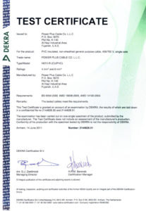 Type Test Certificate - Building Wires