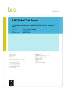 Type Test Certificate - Fire Resistant Cable-1