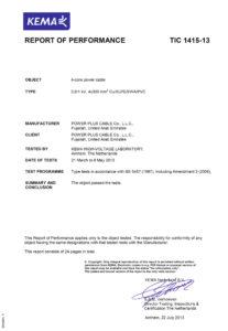 Type Test Certificate - LV-1