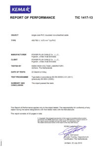Type Test Certificate - LV-3